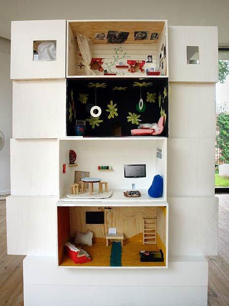 En af tre 'boligblokke' på udstillingen. Foto: Mette Kyhl Nielsen.