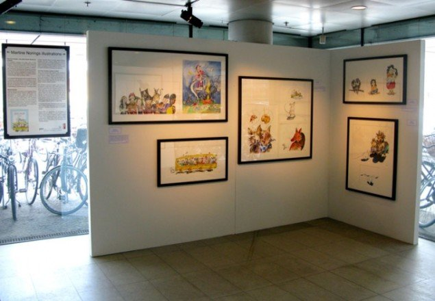 Installationsview fra Martine Norings udstilling i Den Sorte Diamant. (Pressefoto)