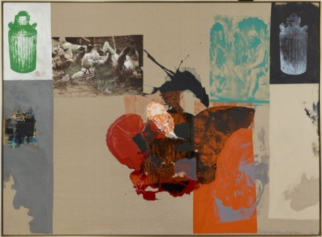 Robert Rauschenberg Orphic City, Salvage Series, 1984. Pressefoto.