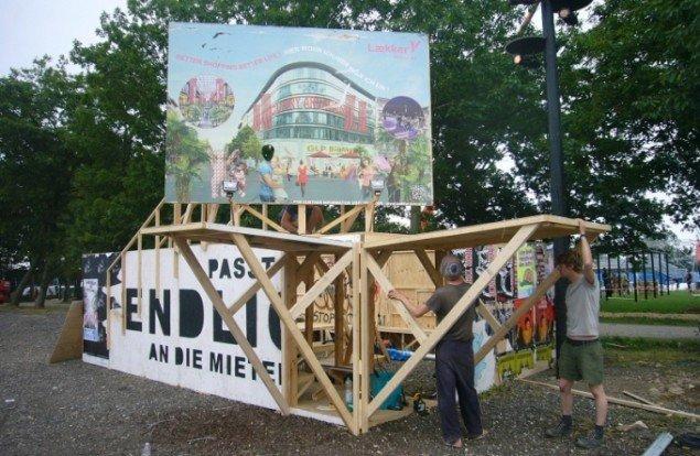 Raumlabor i Urban Zone, Roskilde Festival 2012. . (Foto: Matthias Hvass Borello)