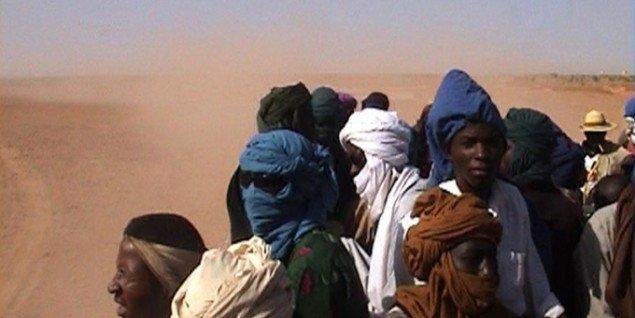 Ursula Biemann: Sahara Chronicle, 2006-2009, videoinstallation, varighed: 78 minutter. Foto: © Brandts og kunstneren.