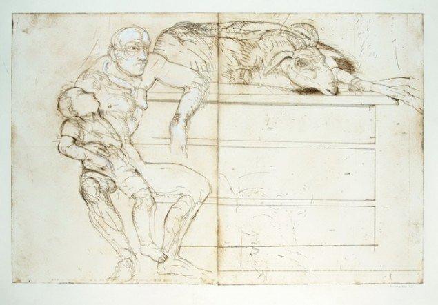 Sys Hindsbo: Abraham og Isak, efter, 2005. Foto: Pressefoto/Clausens Kunsthandel