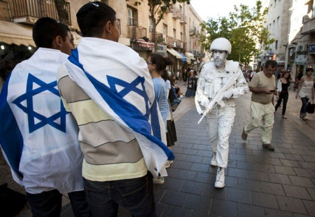 Nationalistiske jøder i det nye Jerusalem. Foto: Yonatan Sindel