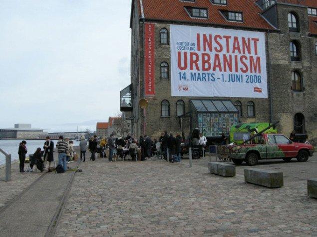 Morgenmadsarrangementet udenfor Dansk Arkitektur Center, foto: Line Møller Lauritsen