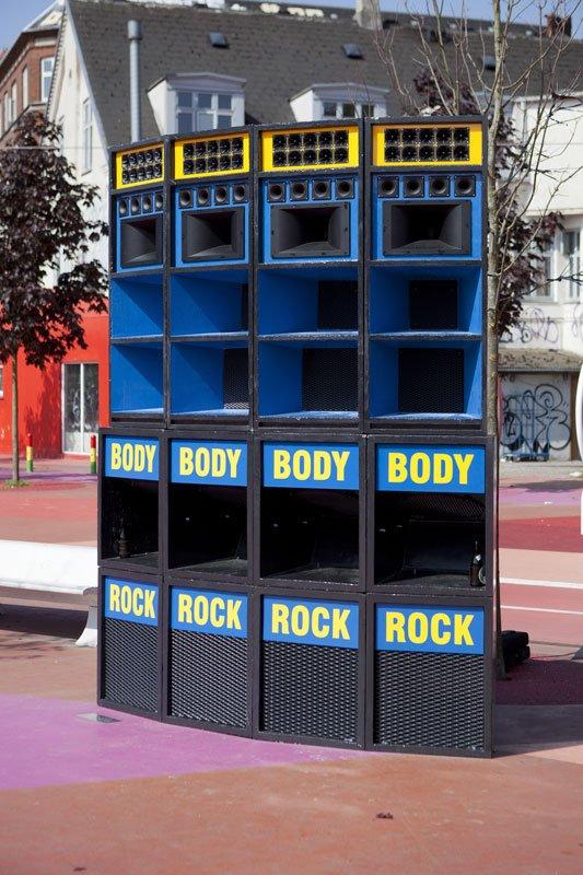 Lydsystemet fra Kingston (Jamaica) på Den Røde Plads. (Foto: Superflex)