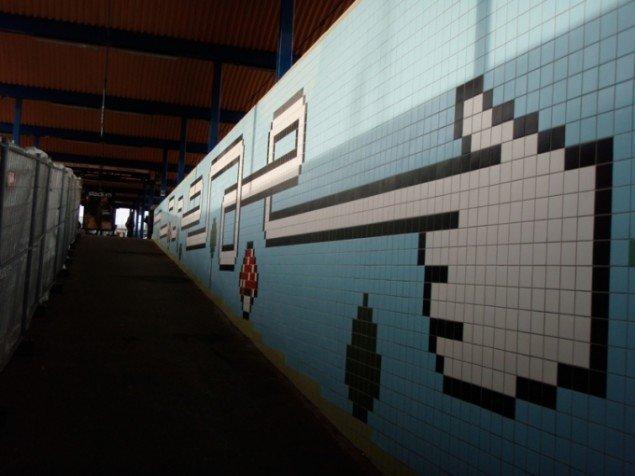 Udsmykning, tunnelbanestation Thorildsplan, Stockholm, 2009. Pressefoto.