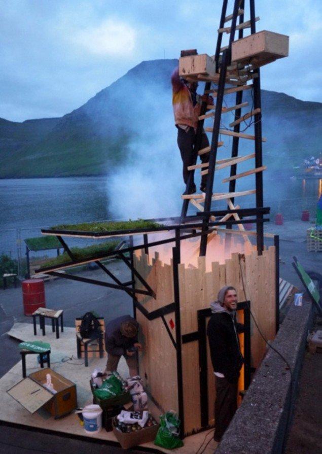 swaG!-chill-out miljø og lysinstallation på Færøerne, 2012. Pressefoto.