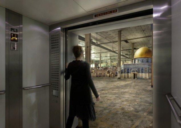Nation Estate – Jerusalem Floor, C-print, 42x59cm, Artist's Proof, Larissa Sansour, 2011. Pressefoto.