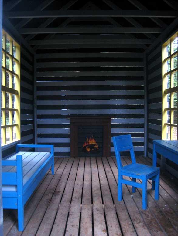 Naturrum Skovsnogen. Thoreau´s hytte. Foto: René Schmidt
