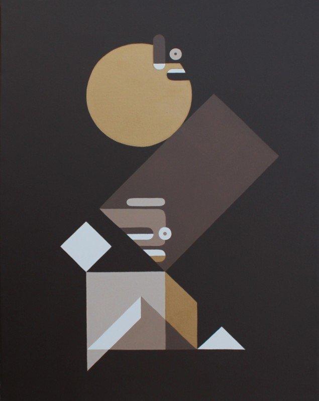 Equilibrium, 2012. Acryl og guld på lærred. Foto: B15.