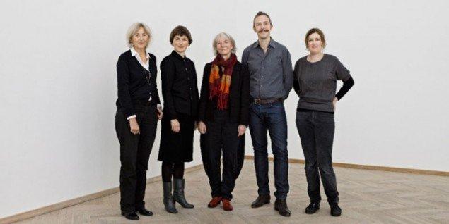 De fem kunsthalchefer (Pressefoto)
