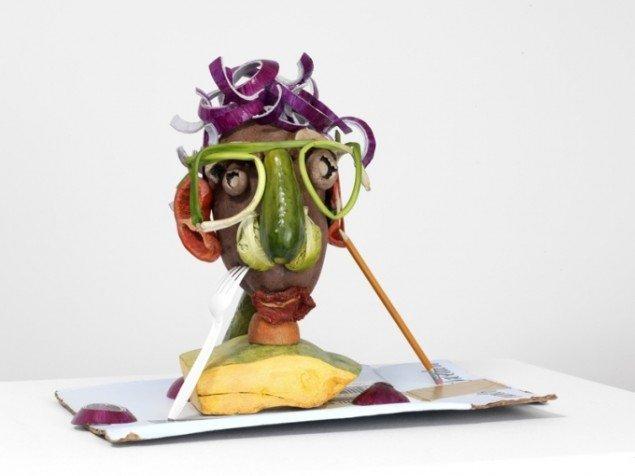 Double Veg. Head 2 (Fresh), 2008, bemalet bronze. Pressefoto: ARoS.