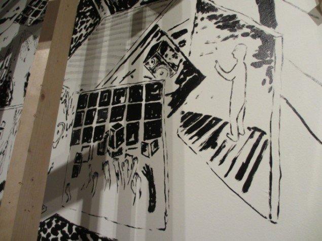 Detalje fra et af værkerne på udstillingen Everything Changes. Foto: Ida Caroline Schaltz.