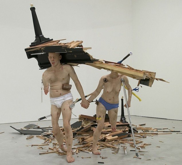 Tony Matelli: Fucked (Couple), 2005. Foto: Ole Hein.