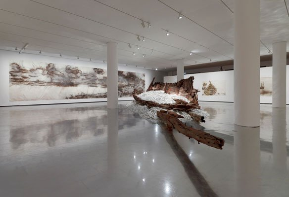 Cai Guo-Qiang 2012.  A Clan Of Boats  installationsview. (Foto: Anders Sune Berg)