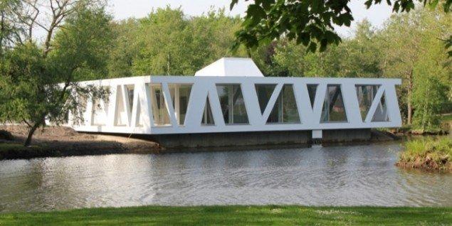 Kunstpavillonen er tegnet af arkitekten Henning Larsen, der er født i Videbæk. Pressefoto.