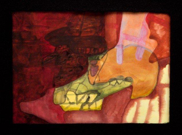 Uden titel, Cai-Ulrich von Platen, akvarel. Pressefoto