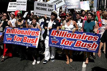 Billionaires for Bush march (2000). Foto: Fred Askew.