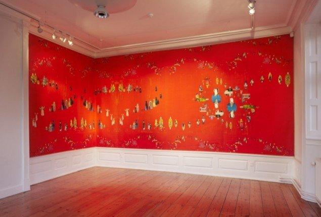 Uden titel, 2012, installationsfoto af værk fra Rønnebæksholm. Foto: Lea Nielsen