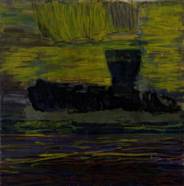 Per Kirkeby: Fram i haven, 2006, Tempera på lærred, 200 x 200 cm (© Galerie Michael Werner)