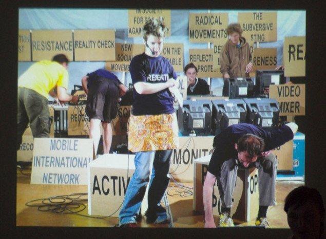 Alternativ mediestation til G8-demonstration i Rostock. Foto: Bankleer/rum46.
