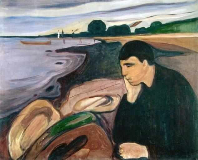 Edvard Munch: Melankoli, 1894-96. Foto: Werner Zellin.