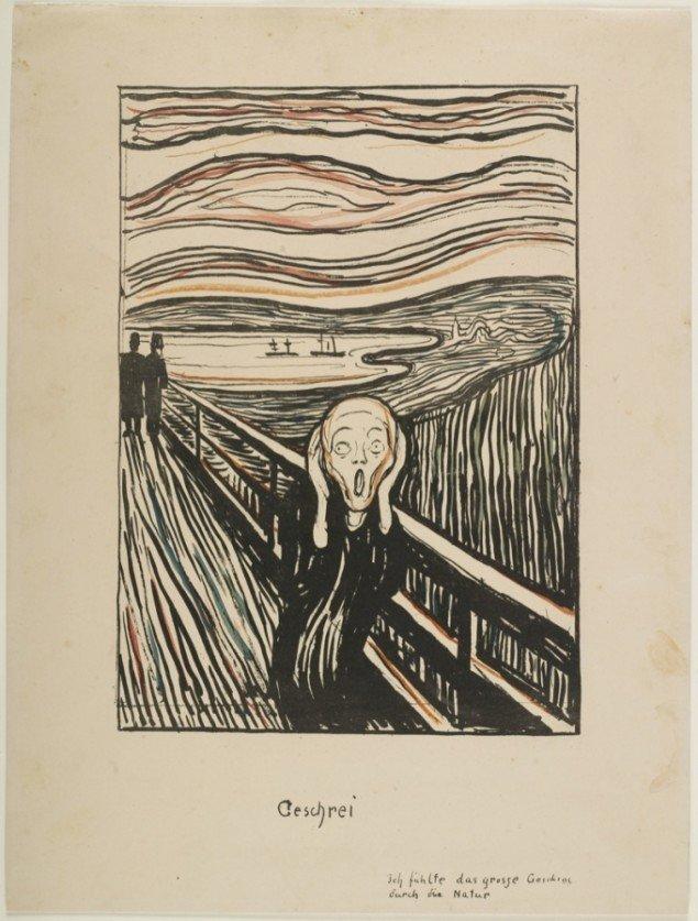Edvard Munch: Skrig, 1895. Foto: Thomas Widerberg.