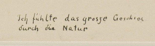 """""""Ich fühlte das grosse Geschies durch die Natur"""", Edvard Munch: Skrig (detalje), 1895. Foto: Thomas Widerberg."""