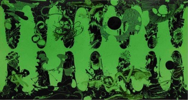 Untitled, 2012, olie på lærred, 255 x 480 cm. Privat samling, Danmark. Foto: Anders Sune Berg.