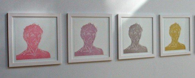 Udsnit af Tine Hind: Anonym i mængden, 2012. Foto: Jens Møller