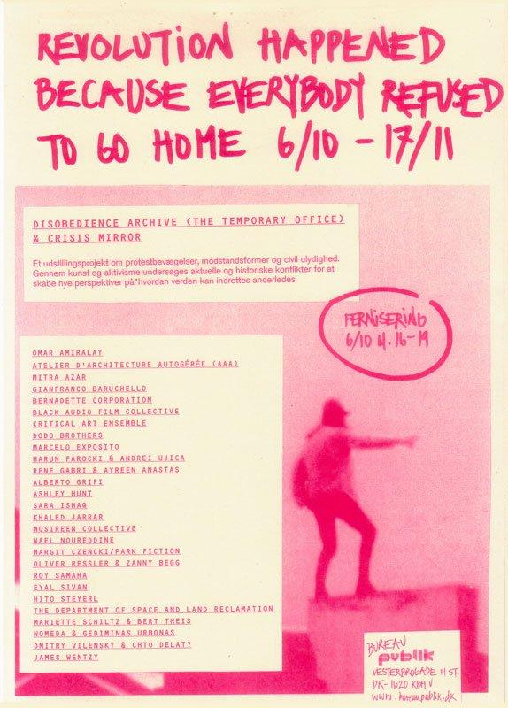 Plakat og flyer til den aktuelle udstilling ved Bureau Publik.