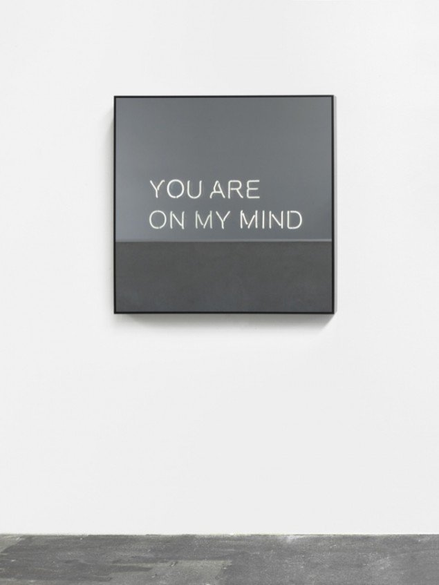 YOU ARE ON MY MIND, 2012, 100 x 100 x 10 cm. Courtesy: Johann König, Berlin and 303 Gallery, NY. Foto: Roman März.