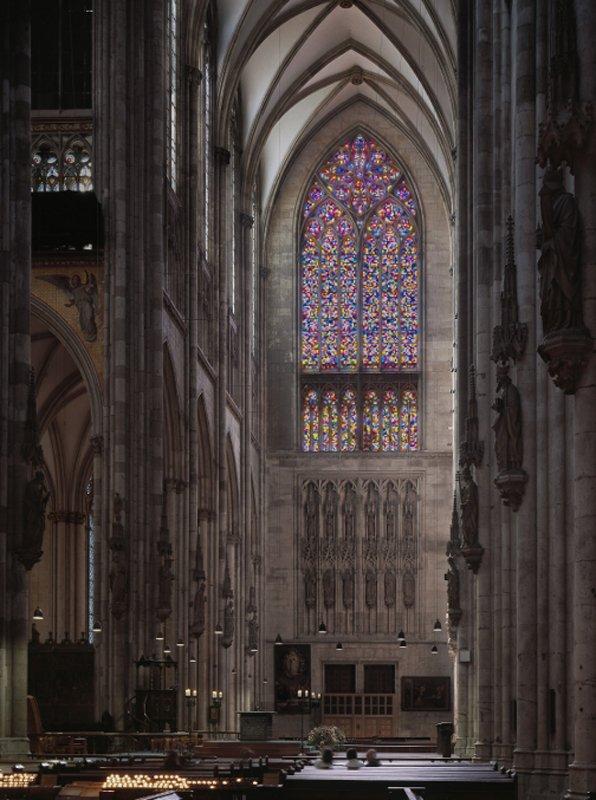 Gerhard Richter: Köln, Dom. Süderquerhausfenster Gesamtansicht, © Gerhard Richter. (Foto: Dombauerarchiv Köln, Matz und Schenk)