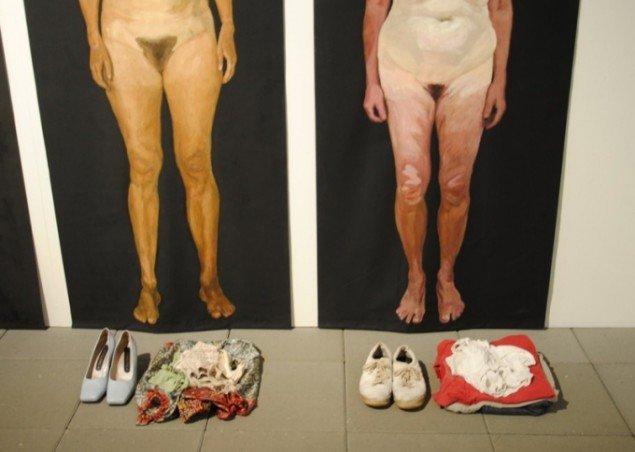 Detalje af Kirsten Schauser, Uden tøj, 2009. Pressefoto.