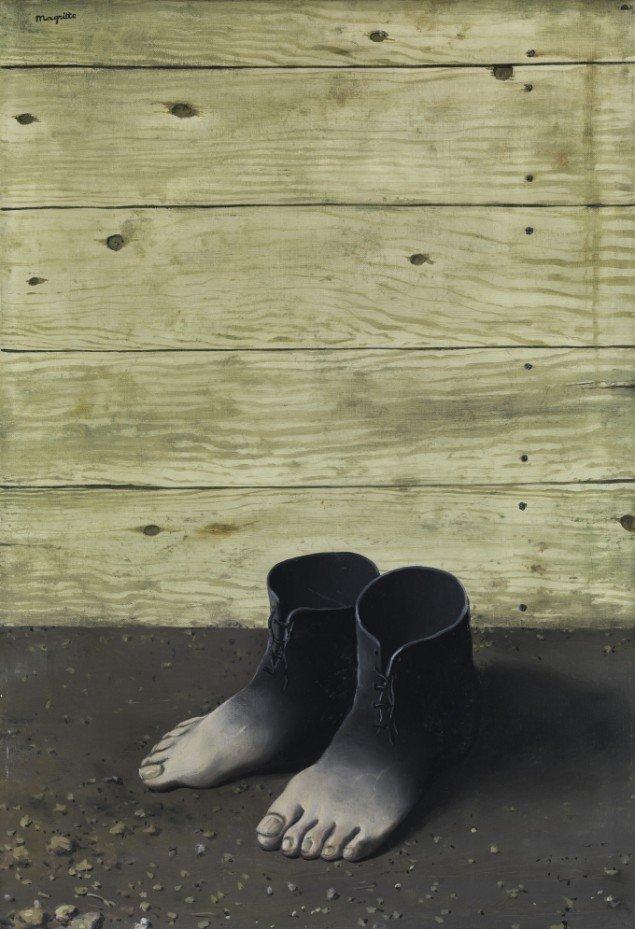 René Magritte Den Røde Model, 1935. (Pressefoto)