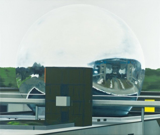 The Future as A Sphere, 2011, olie på lærred, 153 x 182 cm. Pressefoto.