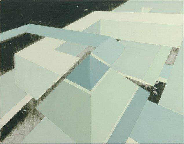 Pyramid, 2012, olie på lærred, 55 x 70 cm. Pressefoto.