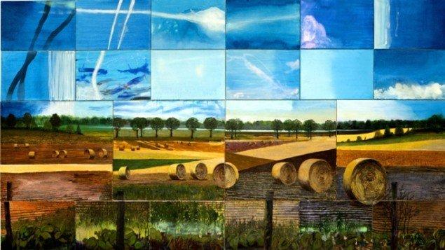 Fractured landscape, 2012, olie på lærred, 220 x 420 cm. Pressefoto.