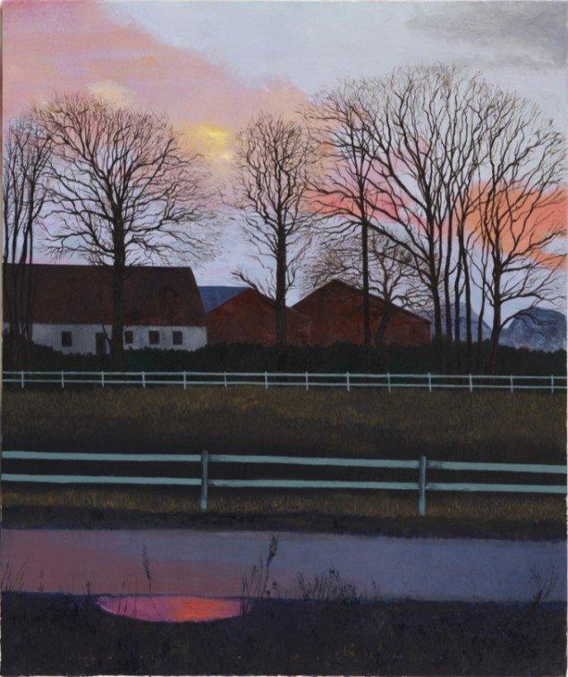 Krestens Gård, 2010, olie på lærred, 125 x 150 cm. Pressefoto.