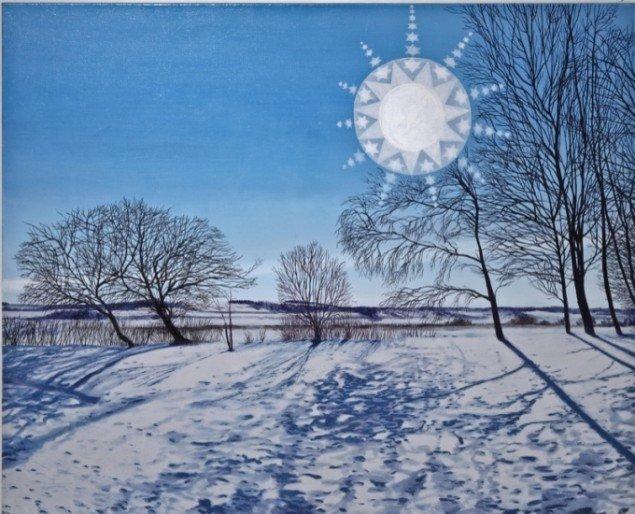 Søndbjerg, 2011, 100 x 125 cm., olie på lærred. Pressefoto.