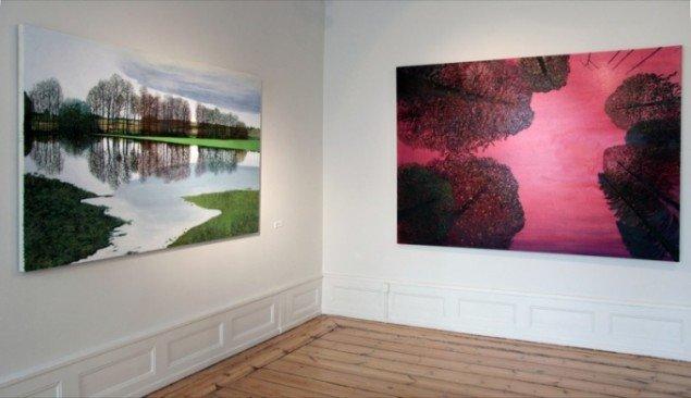 Udstillingsview fra Søren Martinsens udstilling; Danskeren på Rønnebæksholm, 2012. Pressefoto.