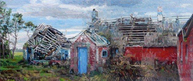 Allan Otte: Klatmaleri i lange baner, 2012.