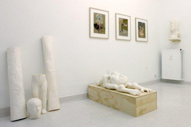 Udstillingsview fra David Dellagi The Umbilical Eye hos SOD Gallery. Pressefoto