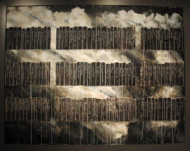 Bruno Kjær: Maleri - del af installationen Dr. Wolfgang Hermann's liste, 154 x 200 cm. Foto: Bente Jensen