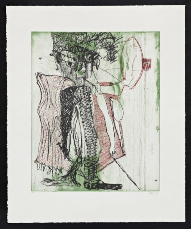 A Guy Opens his Door and gets Shot and you Think that of Me? No. I am the One who Knocks, 2012, lithographic print on paper 64,0 cm x 51,5 cm. Ed. 25. Courtesy Galleri Bo Bjerggaard. Foto: Han-Georg Gaul, Berlin.