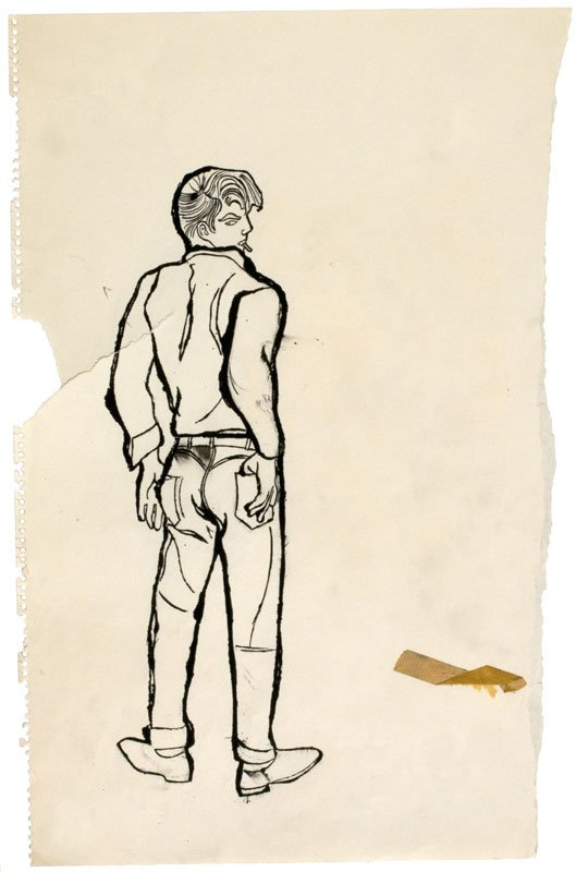 No Title (James Dean Look-Alike), c. 1957 (Courtesy of Daniel Blau Munich/London © Andy Warhol Foundation for the Visual Art Inc.)