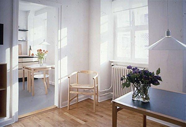 Interiør fra gæsteboligerne. Foto: Janne Klerk.