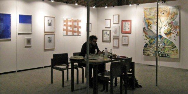 Peter Amby Gallery og Henningsen Gallery havde valgt at dele en stand