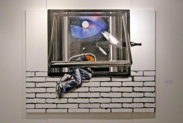 Her maleri af John Kørner hos Galleri Bo Bjerggaard