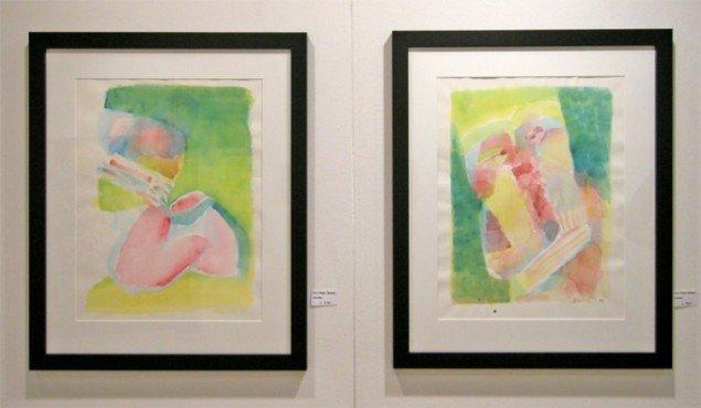 Hos Lien Galleri kunne man købe disse følsomme akvareller af Arne Haugen Sørensen